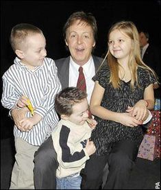 Image result for paul mccartney grandchildren photos- his kids should have named them Vera, Chuck and Dave.