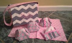 Hey, I found this really awesome Etsy listing at https://www.etsy.com/listing/178625197/baby-doll-diaper-bag-and-diaper-set