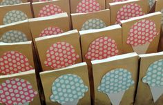 Favor bags at an Ice cream party #icecream #party