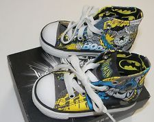 CONVERSE sz 5 Baby Boy Toddler BATMAN DC COMICS sneakers in Box like Dad Hightop