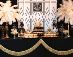 There are many Gatsby Party Ideas that you can try on our current articles, check this out. So if you're prepared to party this up, Gatsby-style Great Gatsby Motto, Great Gatsby Wedding, The Great Gatsby, Trendy Wedding, Speakeasy Wedding, Great Gatsby Themed Party, Gold Wedding, Themed Parties, Fiesta Art Deco