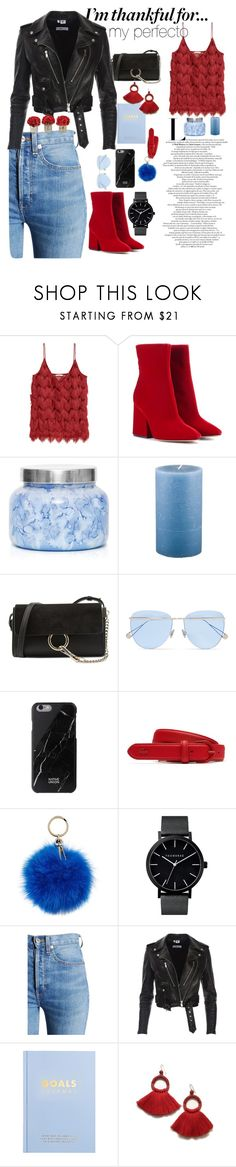 """I'm thankful for my perfecto"" by maela-merrer ❤ liked on Polyvore featuring Maison Margiela, Capri Blue, Holly's House, Chloé, Sunday Somewhere, Lacoste, Coccinelle, RE/DONE, kikki.K and The French Bee"