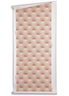 Tufted Wallpaper  Great faux effect  #onekingslane #designisneverdone