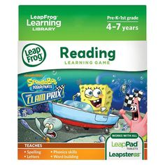 LeapFrog Learning Game: SpongeBob SquarePants The Clam Prix (for LeapPad Tablets and