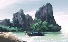 Thailand Ao Nang beach, by Ben Lo (Digital)