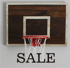 SALE-Vintage Designed Basketball Backboard with by ThePaulinEffect