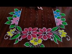 2020 New year special rangoli Dot's. Easy chukkala muggulu New year special kolam Thanks for watching 🙏🙏 Please like share comment below for more vid. Rangoli Designs Peacock, Best Rangoli Design, Rangoli Designs Latest, Small Rangoli Design, Rangoli Designs With Dots, Rangoli Designs Diwali, Beautiful Rangoli Designs, Rangoli Borders, Rangoli Border Designs