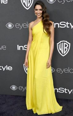 Actress Deepika Padukone attends the Annual Post-Golden Globes Party hosted by Warner Bros. Pictures and InStyle at The Beverly Hilton Hotel on January 2017 in Beverly Hills, California. Get premium, high resolution news photos at Getty Images Indian Bollywood Actress, Bollywood Fashion, Bollywood Style, Deepika Padukone, Satin Dresses, Formal Dresses, Long Dresses, Nice Dresses, Yellow Dress