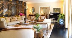 Living Room With Baby Grand Piano Design Ideas, Pictures, Remodel and Decor
