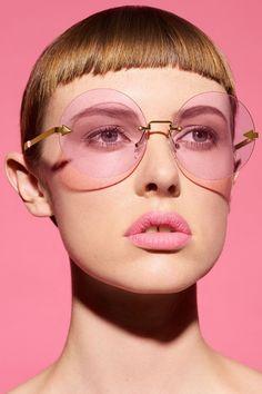 Karen Walker Disco Circus Sunglasses in Pink $250
