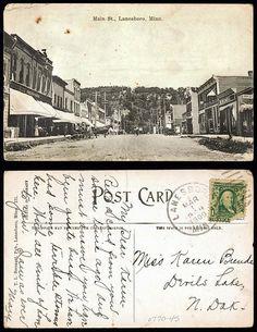 Main St., Lanesboro MN    03-01-1909  State Archives #0770-045