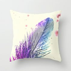 Feather  Throw Pillow cover $20