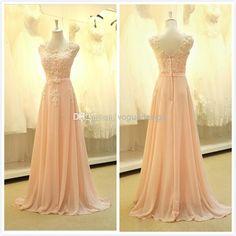 Wholesale Prom Dresses - Buy Cheap Cap Sleeves Lace Appliqued Real Sample Evening Dress Formal Prom Dresses Long Robe De Soiree Bridesmaid Dresses, $94.25 | DHgate.com