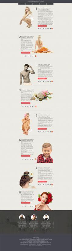 Макет сайта для салонов красоты