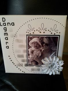 Scrapbooking on canvas