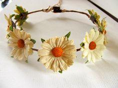 Headband Floral Hair Wreath Boho Hippy style Music by heidihaha, $18.00