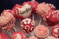 Valentine's Cake pops — If only I had the patience for this kind of stuff...