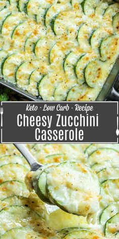 This creamy, cheesy Baked Zucchini Casserole is made with fresh zucchini, rich cream, and lots of cheese for the ultimate zucchini bake! It is an easy summer vegetable casserole that makes a great recipe to add to your meal plan. If you've been looking for a zucchini recipe to use up all of those summer zucchinis this is it! This baked zucchini is a great keto side dish or low carb side for summer. Low Carb Zucchini Recipes, Zucchini Side Dishes, Low Carb Side Dishes, Veggie Side Dishes, Vegetable Dishes, Side Dish Recipes, How To Bake Zucchini, Best Vegetable Recipes, Vegetarian Recipes