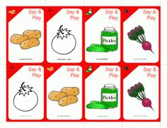 A vegetable themed idiom card game, sequencing cards and a delicious summer recipe! Enjoy! - Re-pinned by @PediaStaff – Please Visit http://ht.ly/63sNt for all our pediatric therapy pins