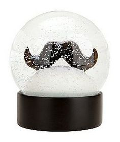 Mustache Snow Globe #moustache #mustache #stache #baffi #snowdome - Carefully selected by GORGONIA www.gorgonia.it