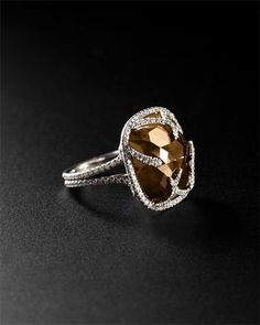 dear future husband, you should buy me this.. Rahaminov 18K 23.55 cttw. Natural Orange Brown Diamond Ring