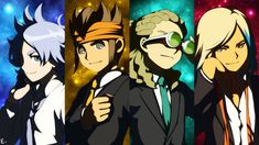 Wallpaper of all grow up for fans of Inazuma Eleven: Fubuki, Endou, Kido & Goenji