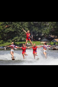 Holiday Shores water ski show 2013. Swivel pyramid