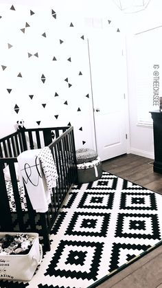 Baby Room Design, Baby Room Decor, Nursery Room, Nursery Decor, Baby Boy Rooms, Baby Boy Nurseries, Boy Nursey, Baby Room Ideas Early Years, Black White Nursery