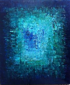 "HOLD for brcishere - Abstract Art Oil Original Painting Ocean Art, Ocean abstract Painting. Turquoise Blue, Sapphire Blue - ""THE ABYSS"":"