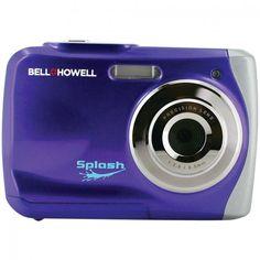 Bell + Howell Wp7-p 12.0-Megapixel WP7 Splash Waterproof Digital Camera Purple
