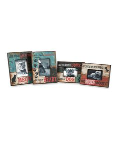 Love this Dog and Cat Photo Frames - Set of Four on #zulily! #zulilyfinds