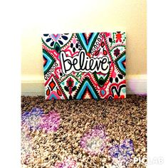 """8x10 """"Believe"""" Lilly Pulitzer Canvas"""