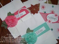 Stampn Up Gift Bags Envelope Punch Board Holiday Cataog