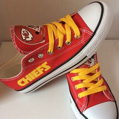 Kansas City Chiefs Converse Style Sneakers - http://cutesportsfan.com/kansas-city-chiefs-designed-sneakers/