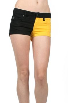 UUYUK Tripp Nyc - Split Shorts Shorts In Black/Yellow