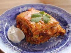 Get Chicken Tortilla Casserole Recipe from Food Network. Enchilada sauce recipe too