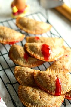 These cherry hand pies are amazing. Frozen empanada pie dough rounds make these handheld Cherry hand pies quick and easy to prepare. Pie Recipes, Dessert Recipes, Cherry Recipes, Cookbook Recipes, Delicious Recipes, Cherry Hand Pies, Almond Ice Cream, Pie Kitchen, Cherry Cobbler