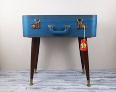 Repurposed Vintage Carilite Suitcase Table