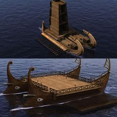 Digital reconstruction of ancient double-hulled ships - Hellenistic times - 3rd - 2nd Century BCE