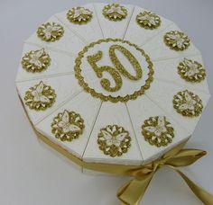 Geldgeschenke - Goldene Hochzeit Torte mit Schmetterlingen - ein Designerstück von Stempelitis bei DaWanda