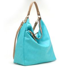 Large Slouchy Hobo Handbag (Mint)