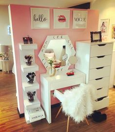 Makeup vanity storage n design ideas