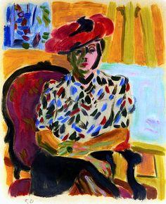 Portrait of Berthe / Raoul Dufy - circa 1940