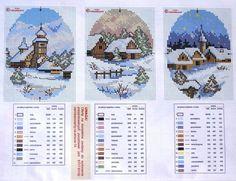 OK Christmas Scenes 2 Charts Cross Stitch Christmas Cards, Xmas Cross Stitch, Cross Stitch Heart, Cross Stitch Cards, Beaded Cross Stitch, Cross Stitch Borders, Cross Stitch Kits, Christmas Cross, Cross Stitch Designs