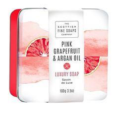 Scottish Fine Soaps Pink Grapefruit and Argan Oil Soap Tin 3.5 Oz - $10