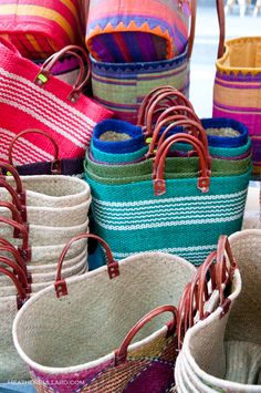 Baskets from the Sunday market on Rue Cler