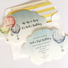 Hot Air Balloon Cloud Invitations