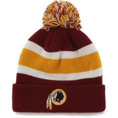 7ee465452 NFL Washington Redskins Breakaway Beanie Stocking Hat with Pom Knit Beanie