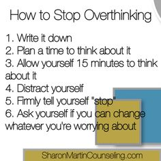 How to prevent over thinking
