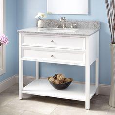 """36""""+Wynne+Vanity+for+Rectangular+Undermount+Sink+-+White"""
